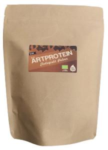 Ärtproteinpulver som är ekologiskt.