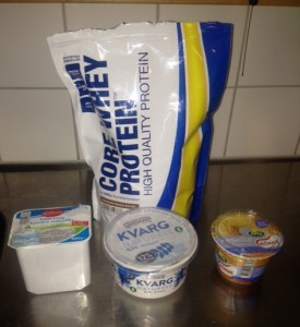 Bästa proteinpulvret att blanda med kvarg.