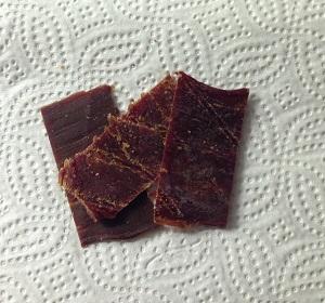 Närbild på beef jerky teriyaki