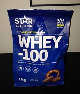Ett klassiskt whey 100 från Star Nutrition
