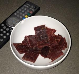 Beef jerky är perfekta snacks