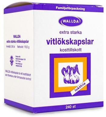 Kapslar från svenska Wallda