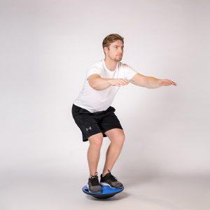 Träning med en balansplatta